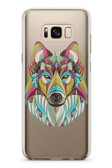 Lopard Samsung Galaxy S8 Plus Kılıf Renkli Kurt Kapak Renkli